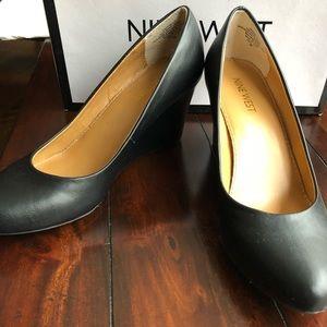 Nine West Women's iSpy Leather Wedge Pump